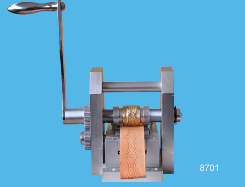 Belt and strap embossing machine