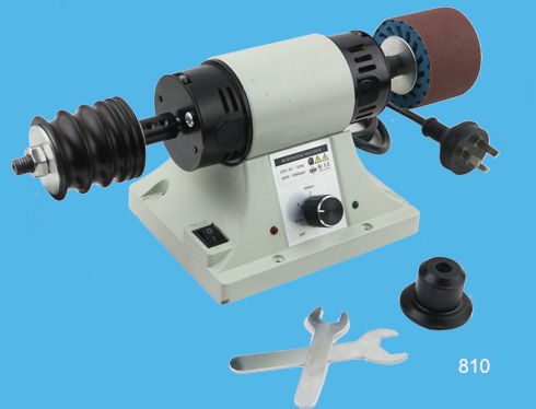 Leather burnishing machine